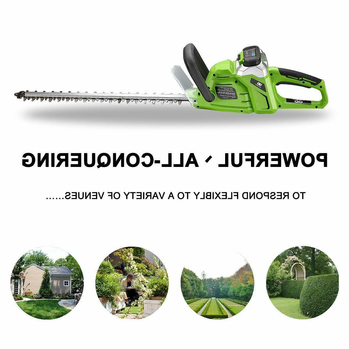 40 volt max high performance cordless hedge