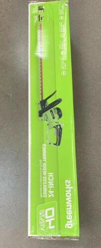 Greenworks 40V 24-Inch Hedge Trimmer 2.5Ah Battery and Quick