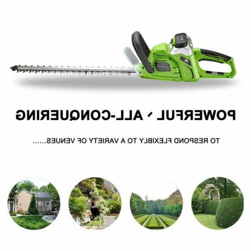 40 volt max cordless bush hedge trimmer