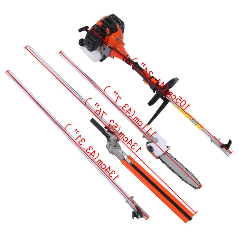 5 1 Petrol Hedge Trimmer Brush Pole Outdoor