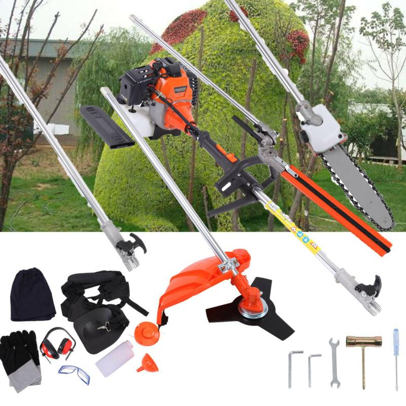 5 in 1 52cc petrol hedge trimmer