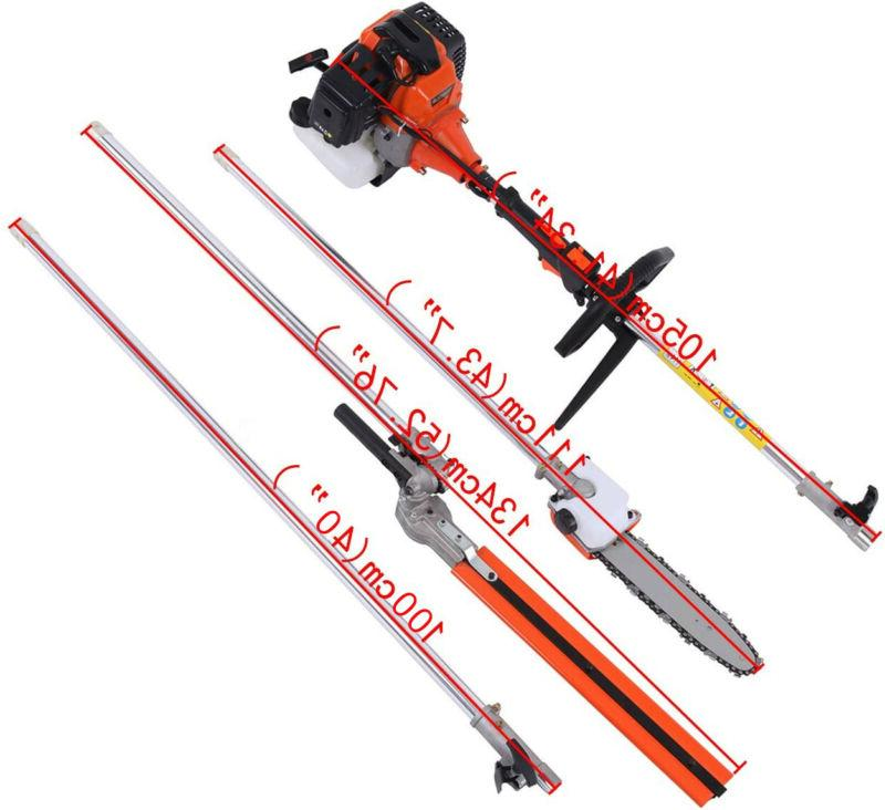 Multifunctional 5 52cc Hedge Pole Saw Cutter