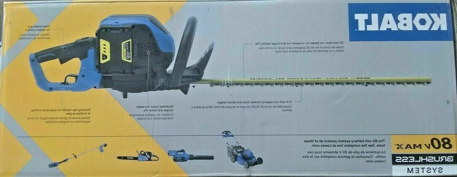 Kobalt 80v Max Cordless Hedge Trimmer & Charger KHT Brand New