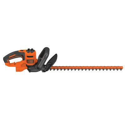 Black 22-Inch Electric Hedge Trimmer