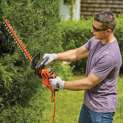 Black Decker 22-Inch 4.0-Amp Dual-Action Electric Hedge