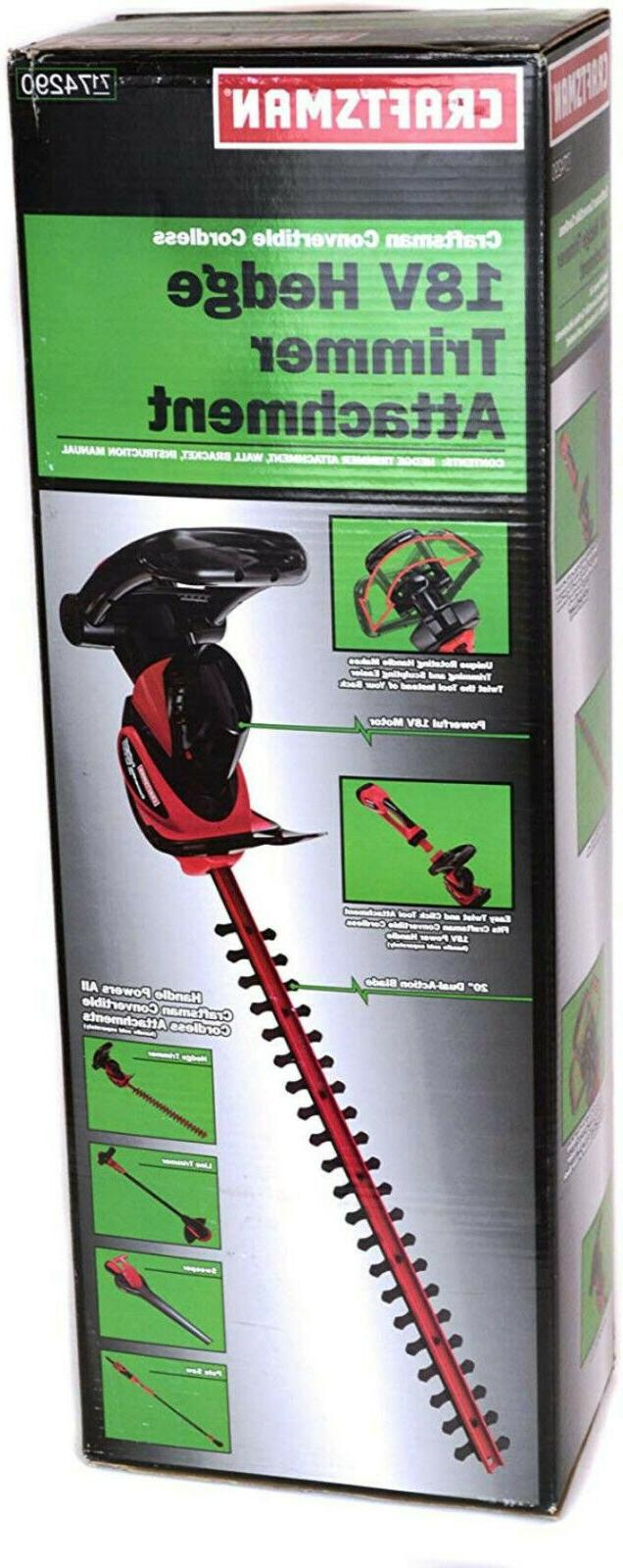 Craftsman 71-74290 18V Convertible Cordless Hedge Trimmer us