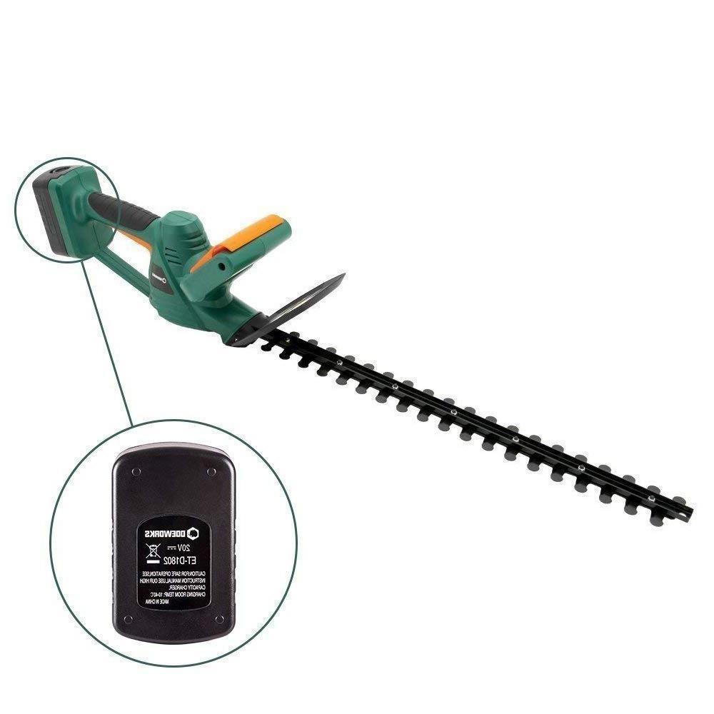 Cordless Electric Hedge Trimmer 20V Li-on Powered