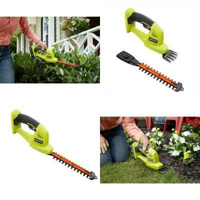 RYOBI Cordless Hedge Trimmer 18-V Lithium-Ion 5/16 in. Cut C