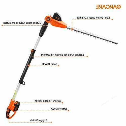 GARCARE Cordless Trimmer Electric Trimmers Telescoping