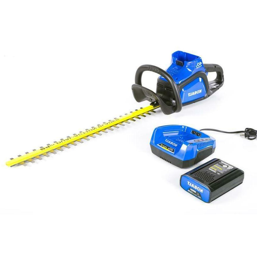 New Kobalt 40-Volt Max 24-in Dual Cordless Hedge Trimmer Ele