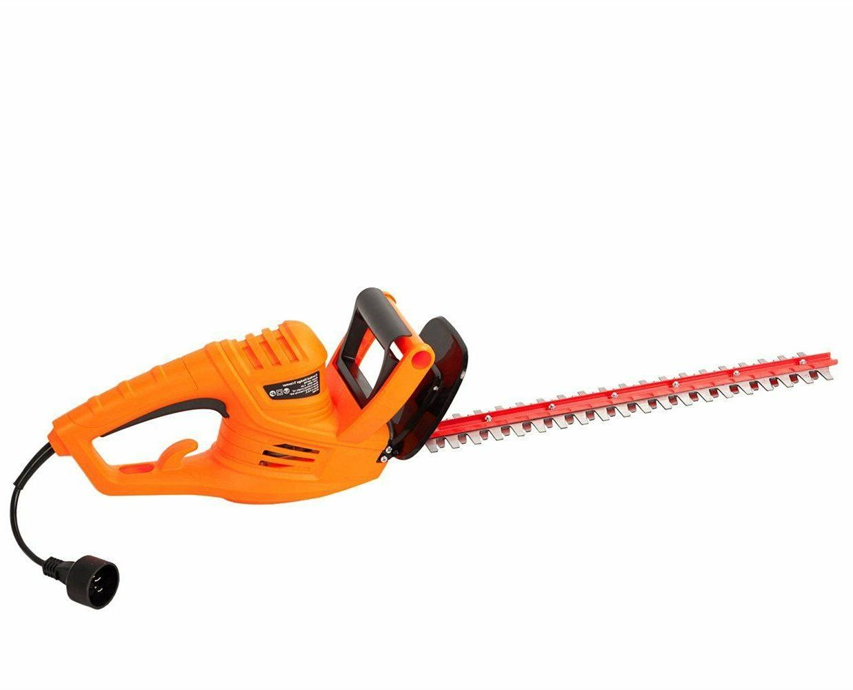 Garcare Corded Hedge Trimmer with Blade/Cover Included