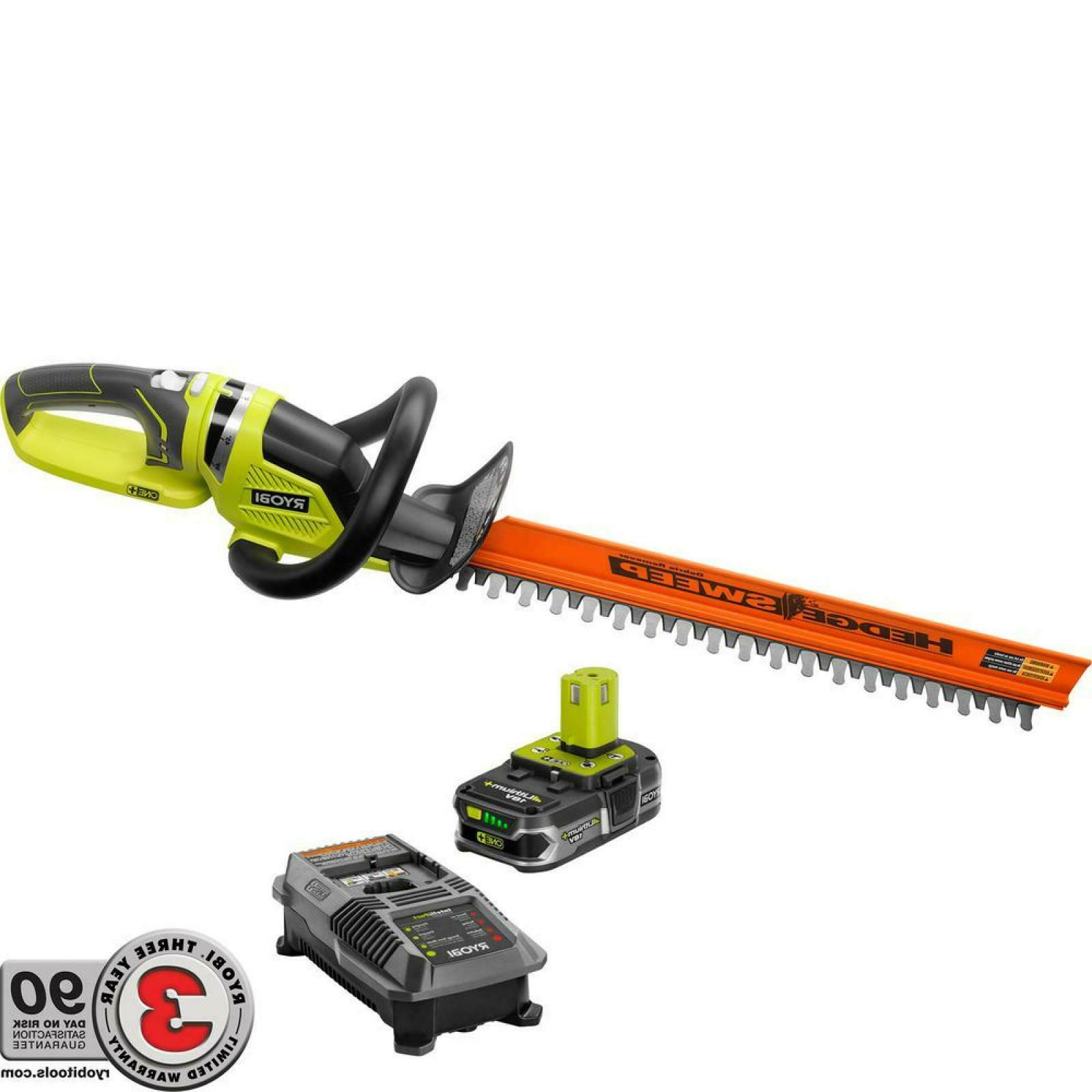 Cordless Hedge in. Lithium-Ion Dual-Action Blades Lawn