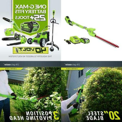 Greenworks 40V Pole AH Battery Included