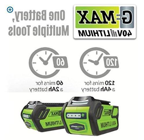 Greenworks 40V Variable Speed Blower, 2.0 Battery 24252