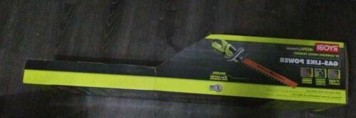"""NEW! RYOBI 24"""" Lithium-Ion Cordless Hedge Trimmer with"""