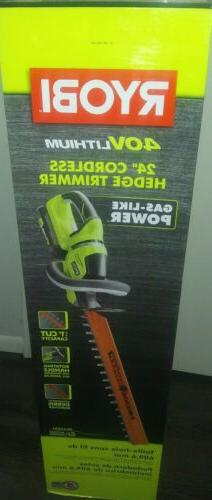 new 24 40v lithium ion cordless hedge