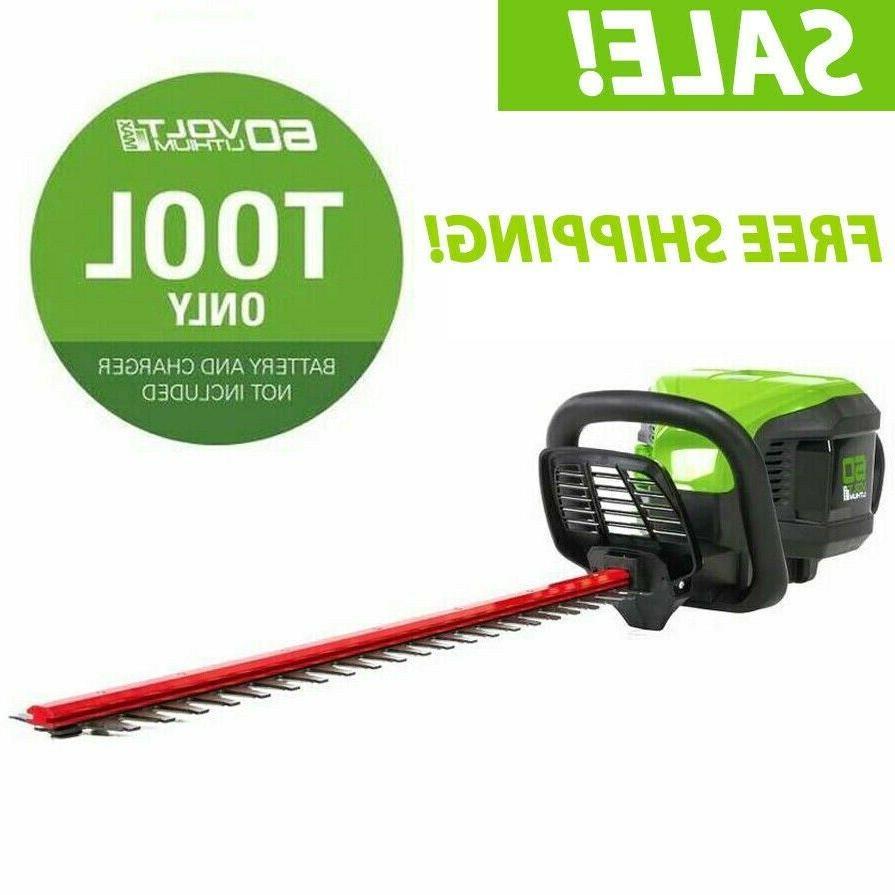 Greenworks Pro Dual Cordless Hedge Trimmer 60-volt 26-in