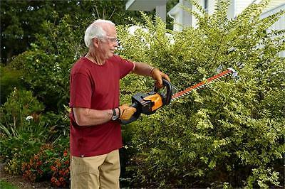 WORX Cordless Hedge Trimmer Dual Action Blades Hand