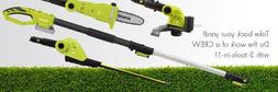Lawn Hedge Trimmer Cordless Grass Pole Saw Tree Electric Han