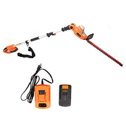 GARCARE 20V Li-ion Cordless Pole Hedge Trimmer with 20-Inch