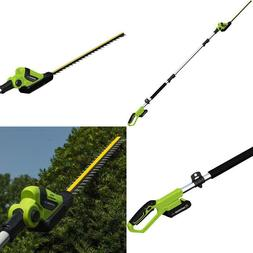 Earthwise Lpht12022 Volt 20-Inch Cordless Pole Hedge Trimmer