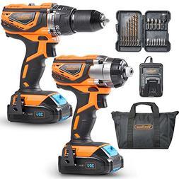 VonHaus MAX 20V Cordless Hammer Drill and Impact Driver Comb