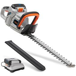 "VonHaus 40V Max 20"" Dual Action Cordless Hedge Trimmer with"