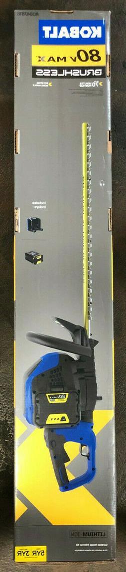 Kobalt 80-volt Max 26-in Dual Cordless Hedge Trimmer