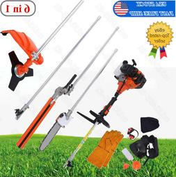 Multifunctional 6 in 1 52cc Chainsaw Brush Cutter Pole Saw P