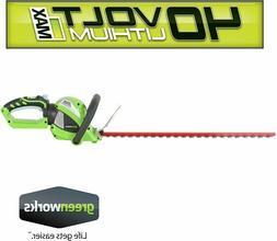 *New Greenworks 24-Inch 40V Cordless Hedge Trimmer,Battery N