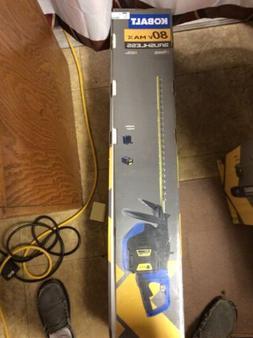 """NEW - Kobalt 80V MAX Brushless 26"""" Cordless Hedge Trimmer w/"""