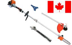KASEI 43cc 7 ft pole Hedge trimmer, Chainsaw, Brush Cutter a