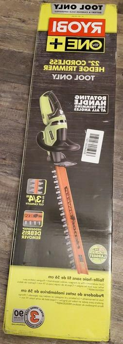 ***NEW***Ryobi P2606 ONE+ 22 in. Hedge Trimmer Cordless Doub