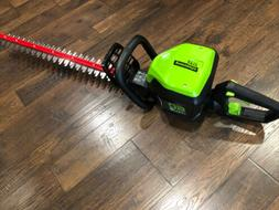 "NEW!! Greenworks Pro 60V 24"" Dual Cordless Hedge Trimmer"