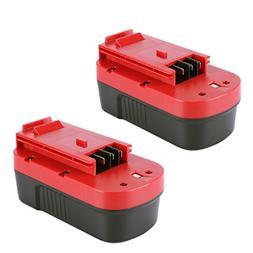 Biswaye 2 Pack 18V 3000mAh NI-CD Battery for Black & Decker