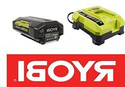 Ryobi OP401 40V Li-Ion Battery Charger &  OP40261 40V 2.4Ah