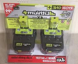 Ryobi P122 ONE+ 18-Volt Lithium Plus High Capacity 4-Ah Batt