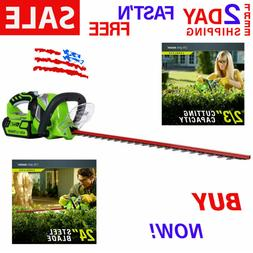Pro Dual Cordless Hedge Trimmer 24-Inch 40V 2.0 AH Battery I
