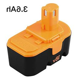 Upgraded 3.6Ah Replace for Ryobi 18V Battery P100 P101 ONE+