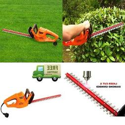 SAFETY Electric Hedge Trimmer Corded with 18 Inch Blade for