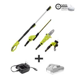Sun Joe Cordless Lawn Care System | Hedge Trimmer | Pole Saw