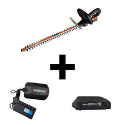 """WORX WG251 Hedge Trimmer 20"""" 18V Battery Operated Lithium Io"""