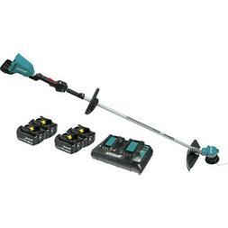 Makita XRU09PT1 18V X2  LXT Li-Ion String Trimmer Kit w/ 4 B