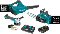 Makita XT274PTX 18V X2 LXT  Blower & Chain Saw Combo Kit  w/